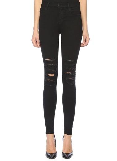 J Brand Yüksek Bel Slim Fit Jean Pantolon Siyah